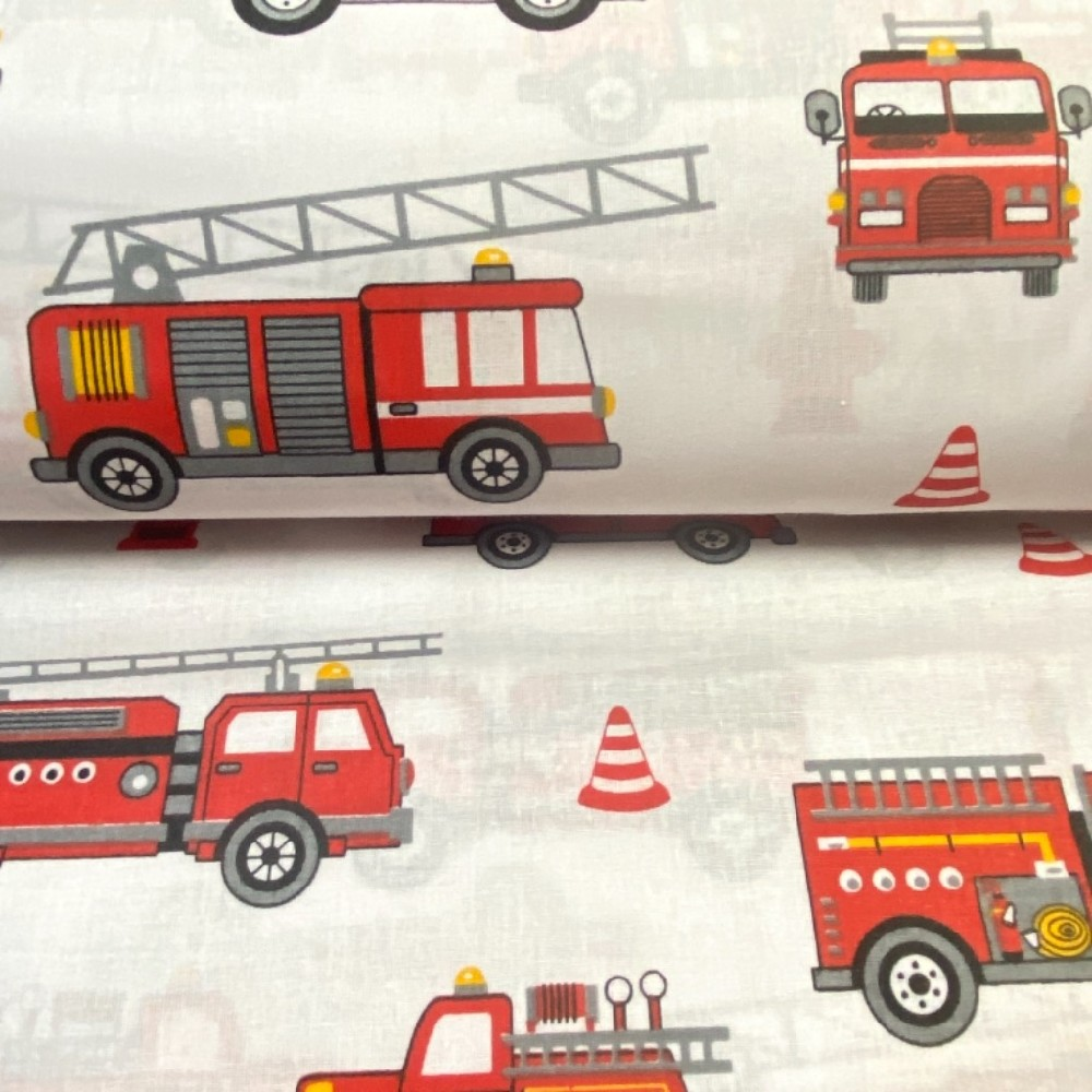 bavlna hasiči bílá 160cm