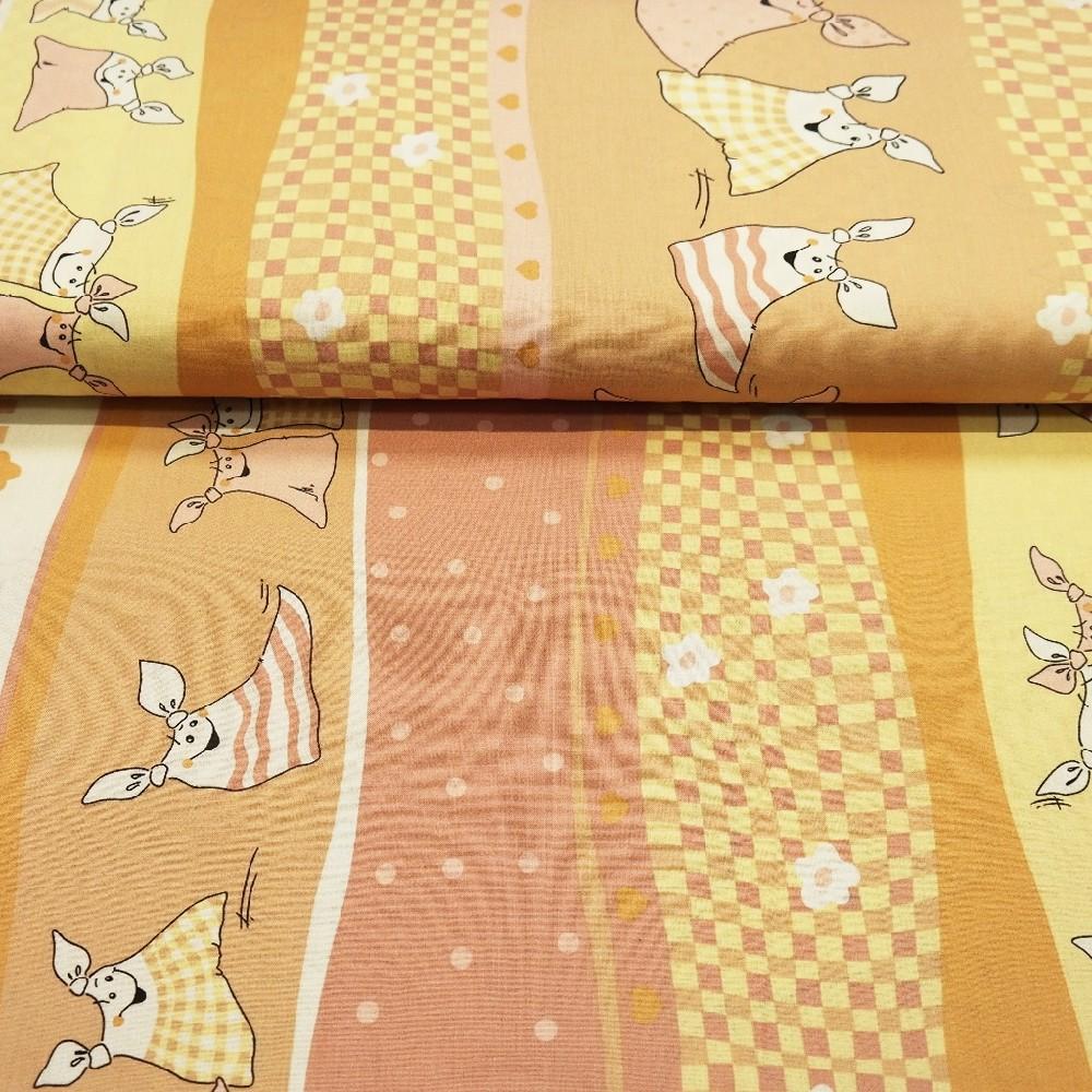 bavlna žluto/růžová kapesníčky