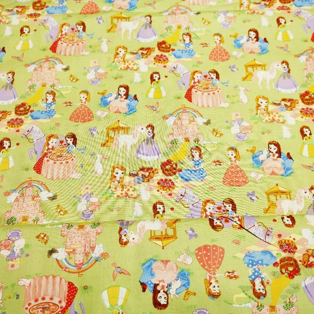 bavlna sv.zel.princezny