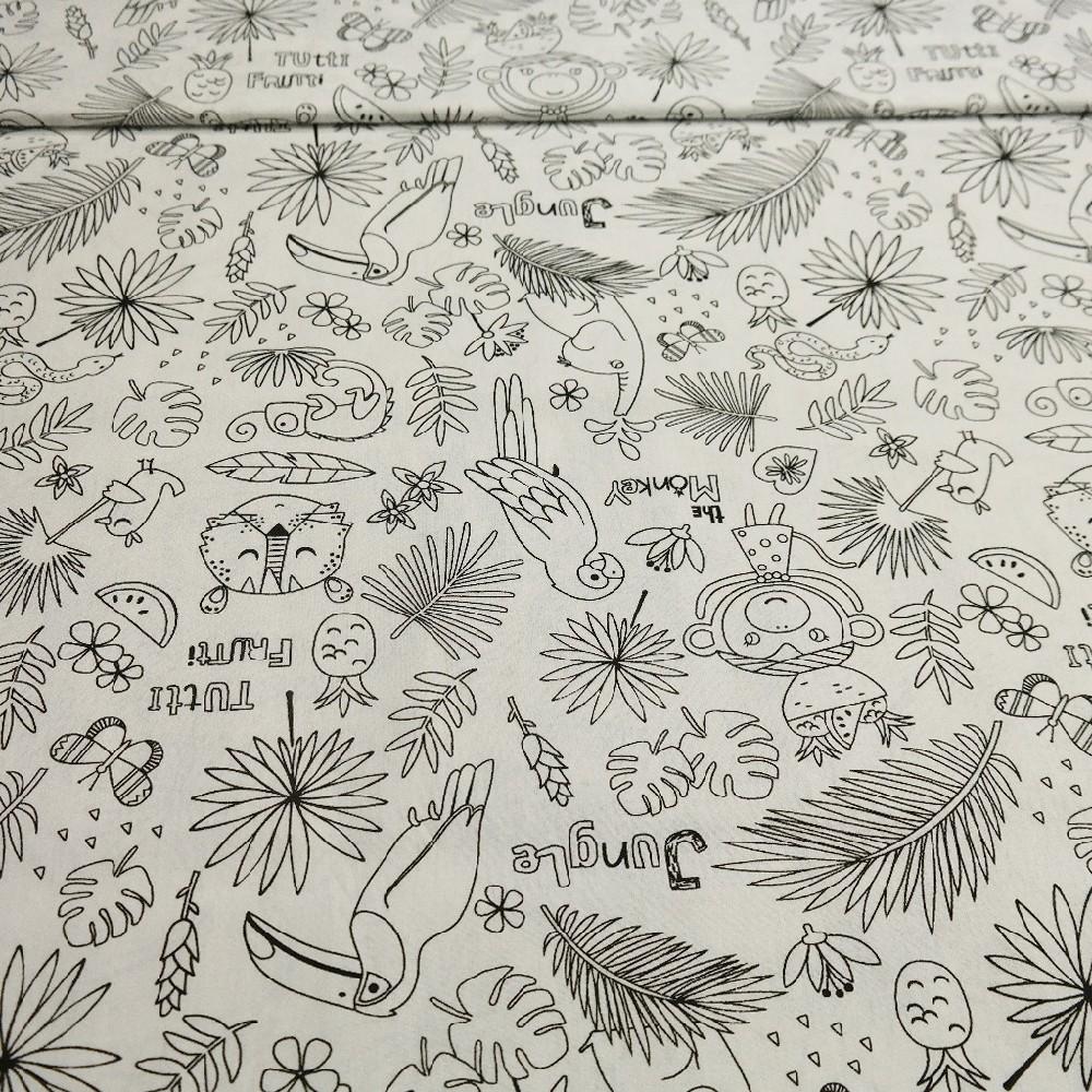 bavlna tropic omalovánky