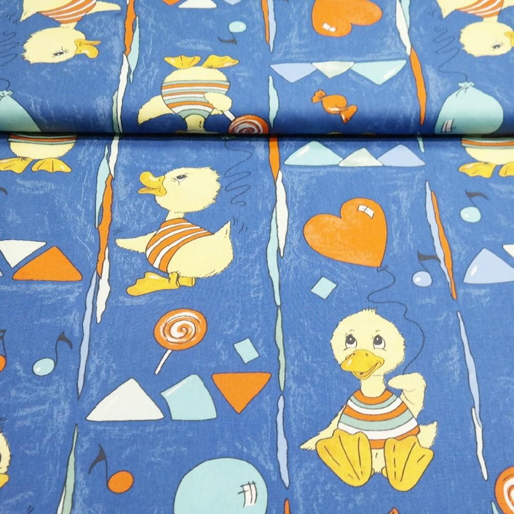 bavlna modrá kachnička