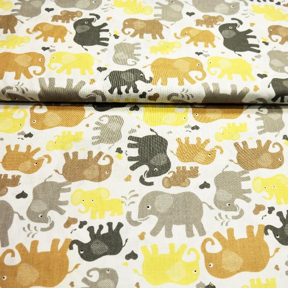 bavlna hnědí sloni