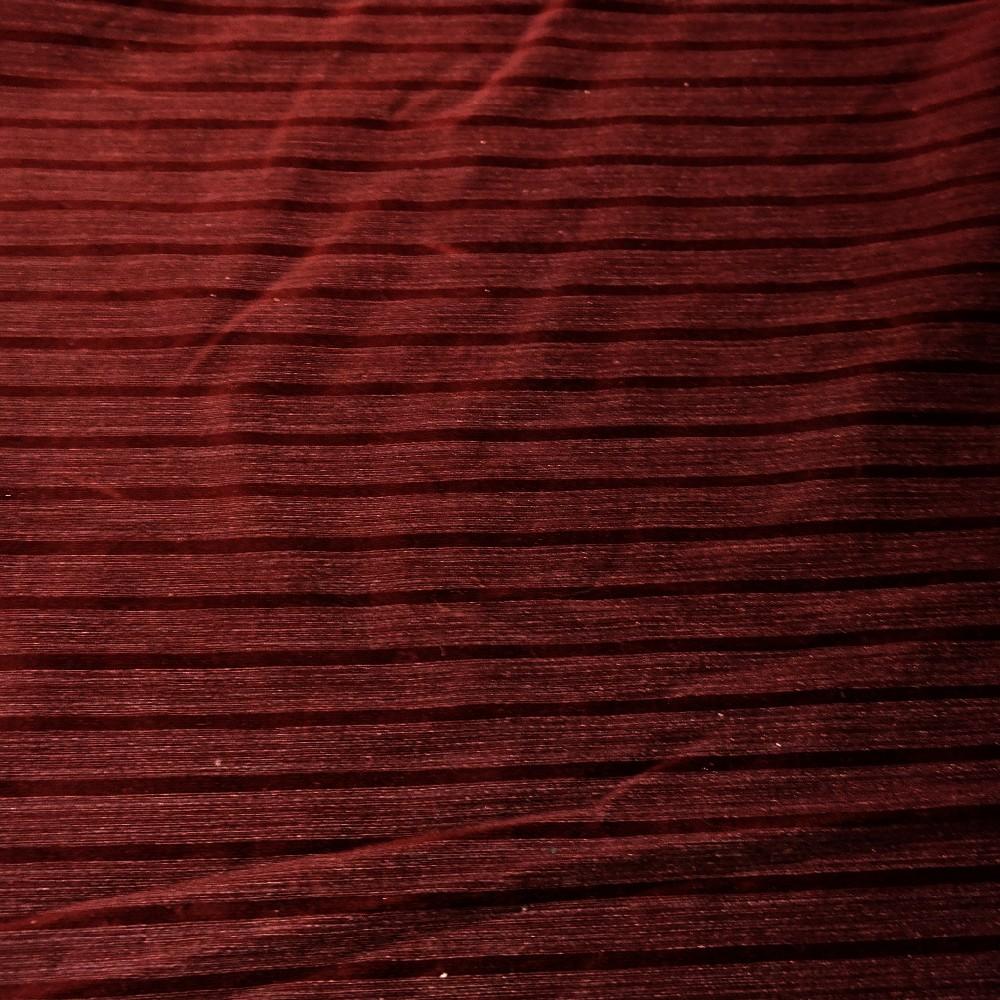 pot.vínová proužek sametová úprava š.160