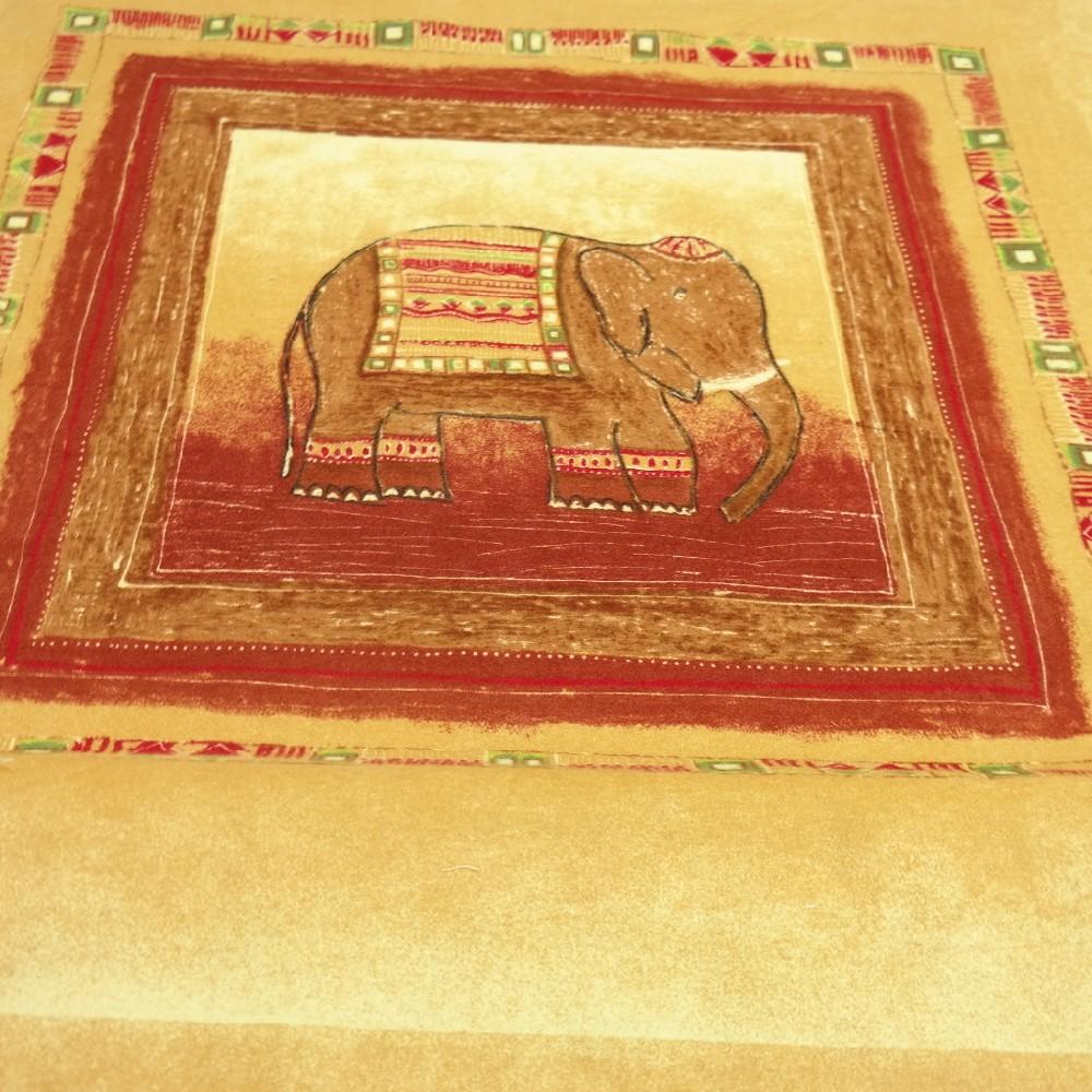 flanel okro/rezavý slon