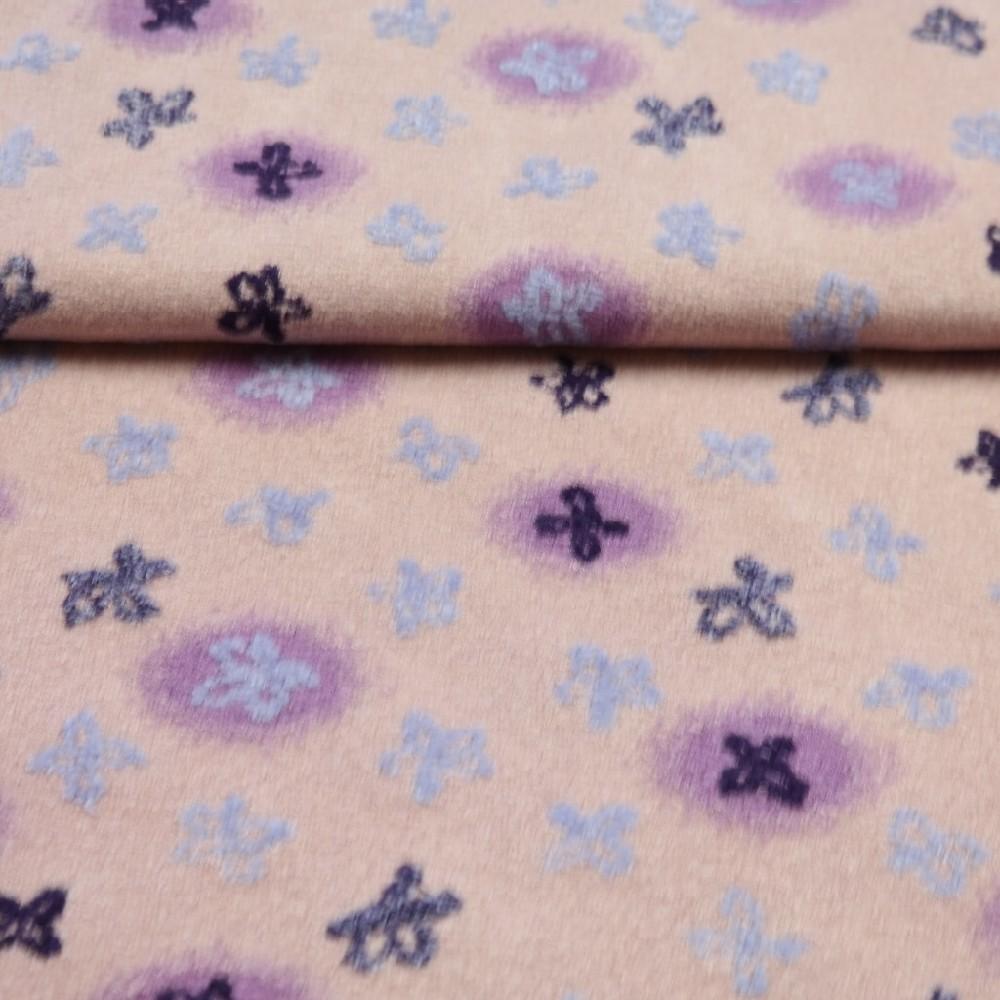 bucle fialové plast.kytičky