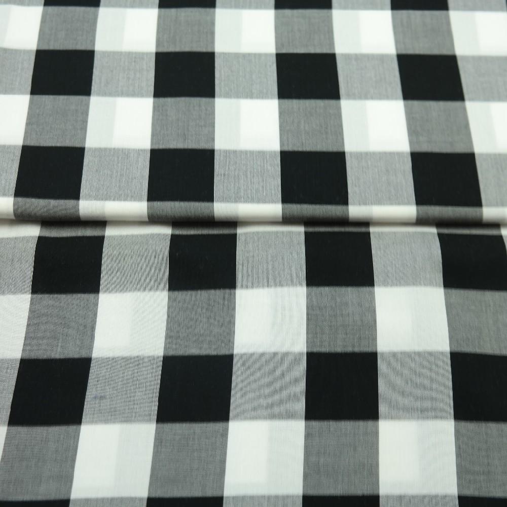 košiliovina černo/bílá velká kostka