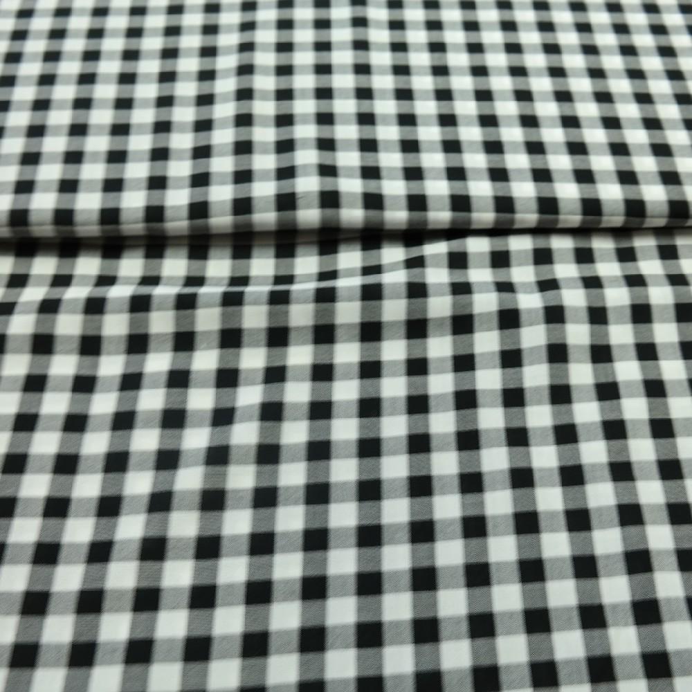 košilovina černo/bílá malá kostka