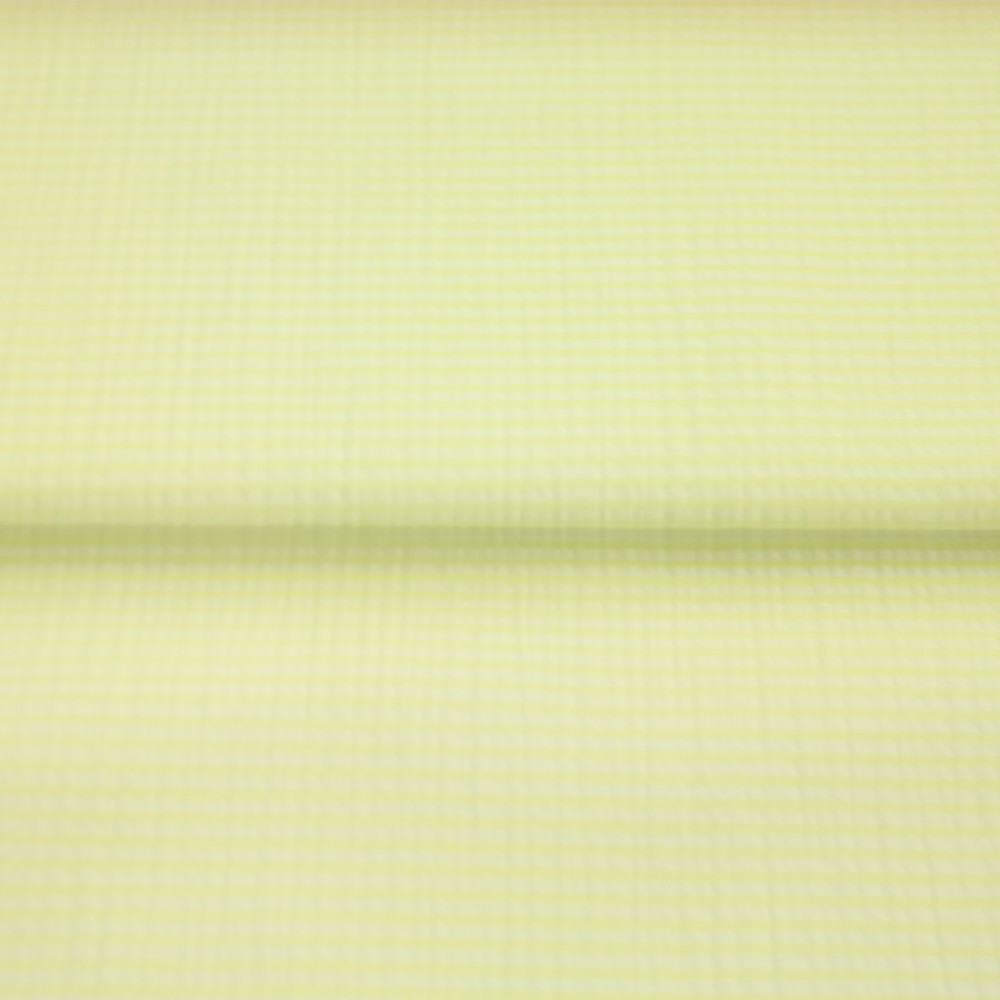 krep žluto/bílý proužek
