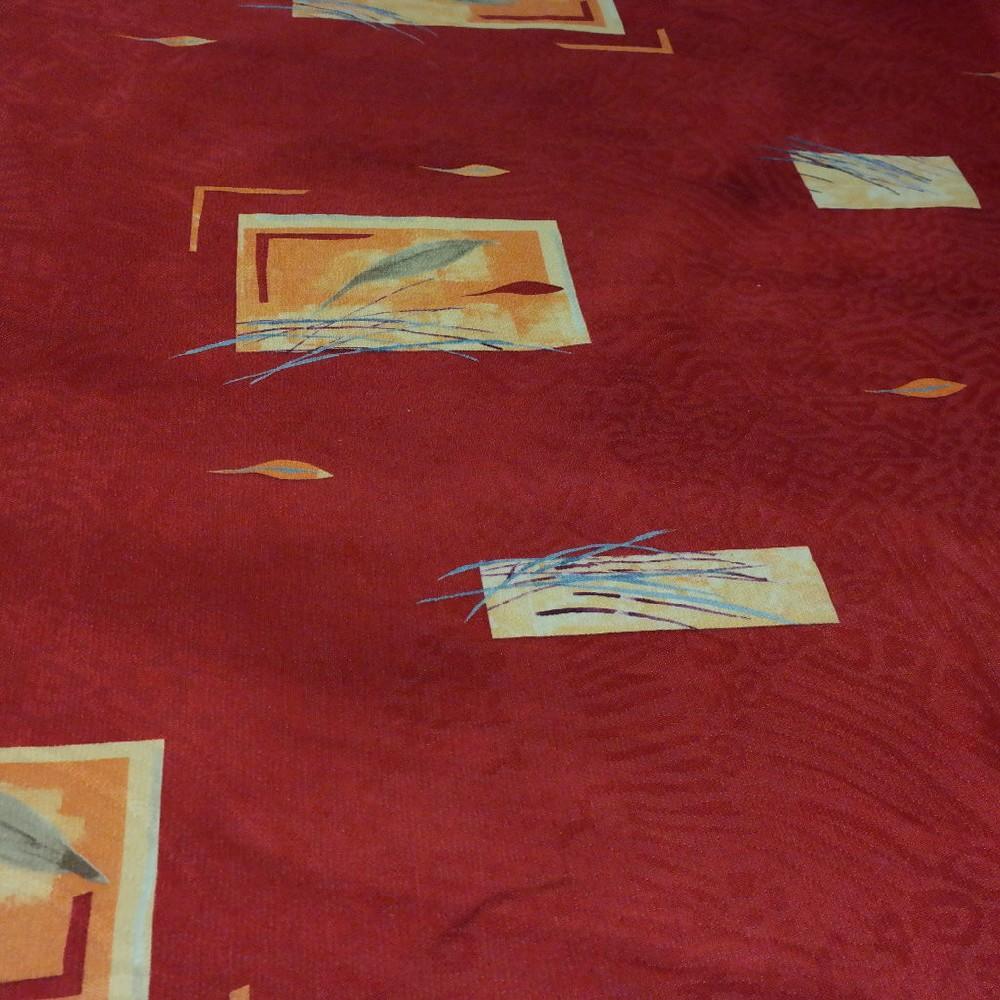 pot. tm.cihlová žluto-oranž. vzor