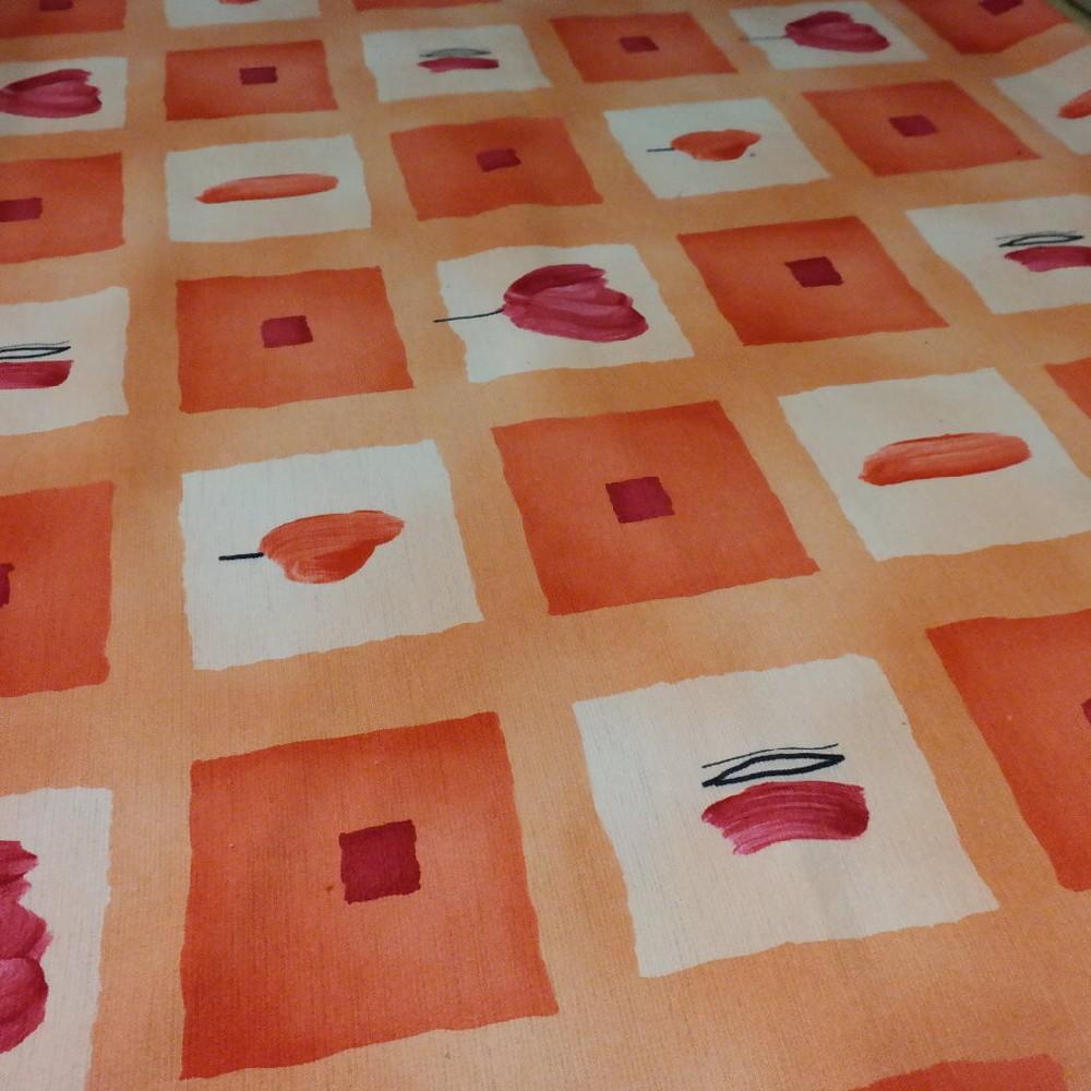 pot. oranžovo žluté kostky mikroplyš