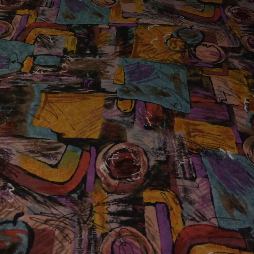 pot. béž/fial/modrá abstraktní vzor