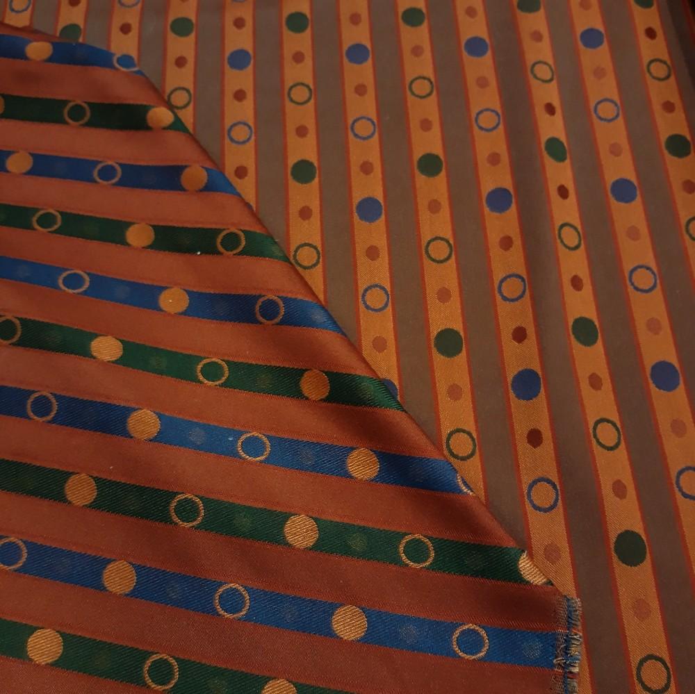 pot. terajkota oranžový pruh barevný puntík