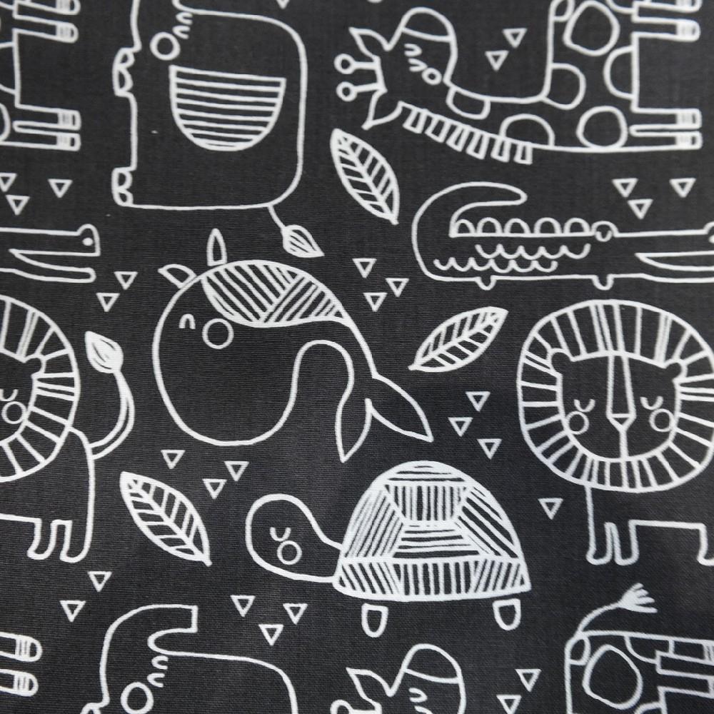bavlna černá safari