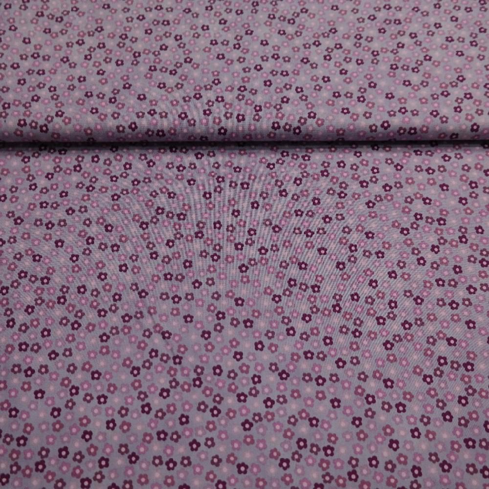 bavlna sv.fialová kvítek š.110