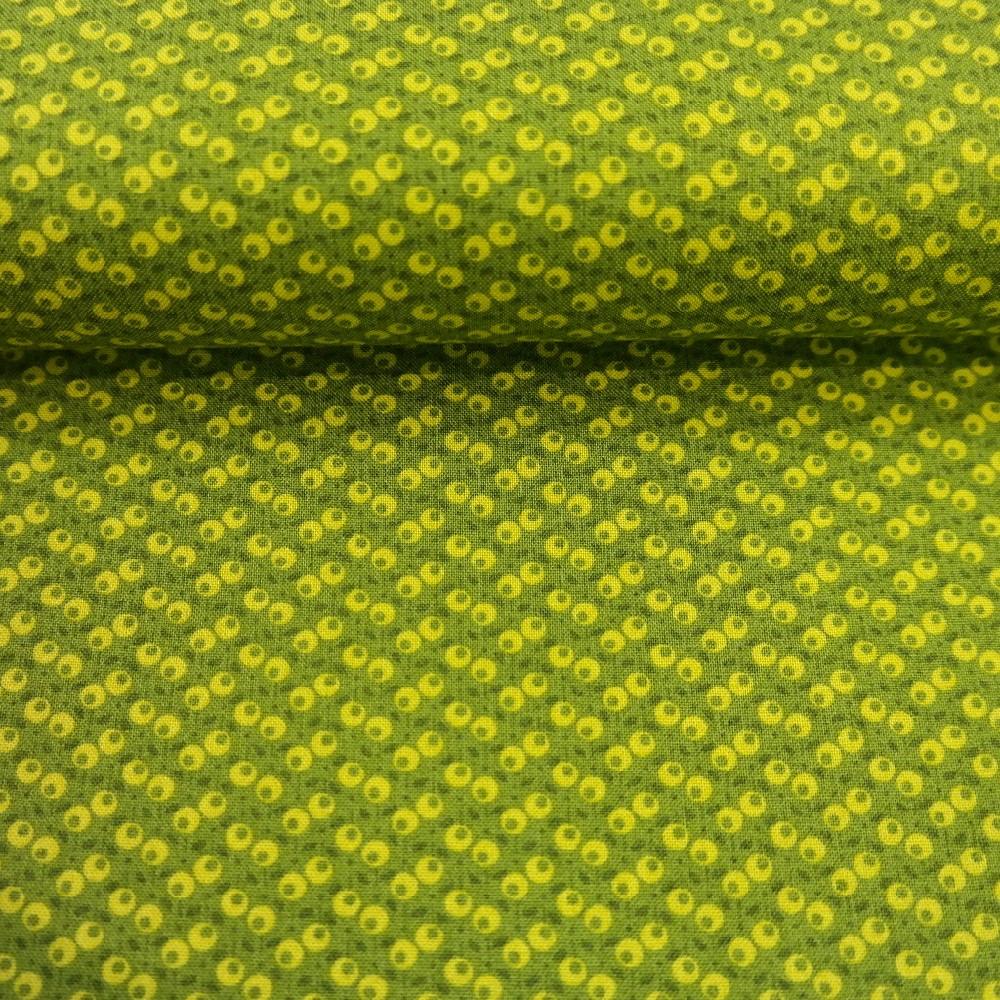 bavlna zelená  očka š.110