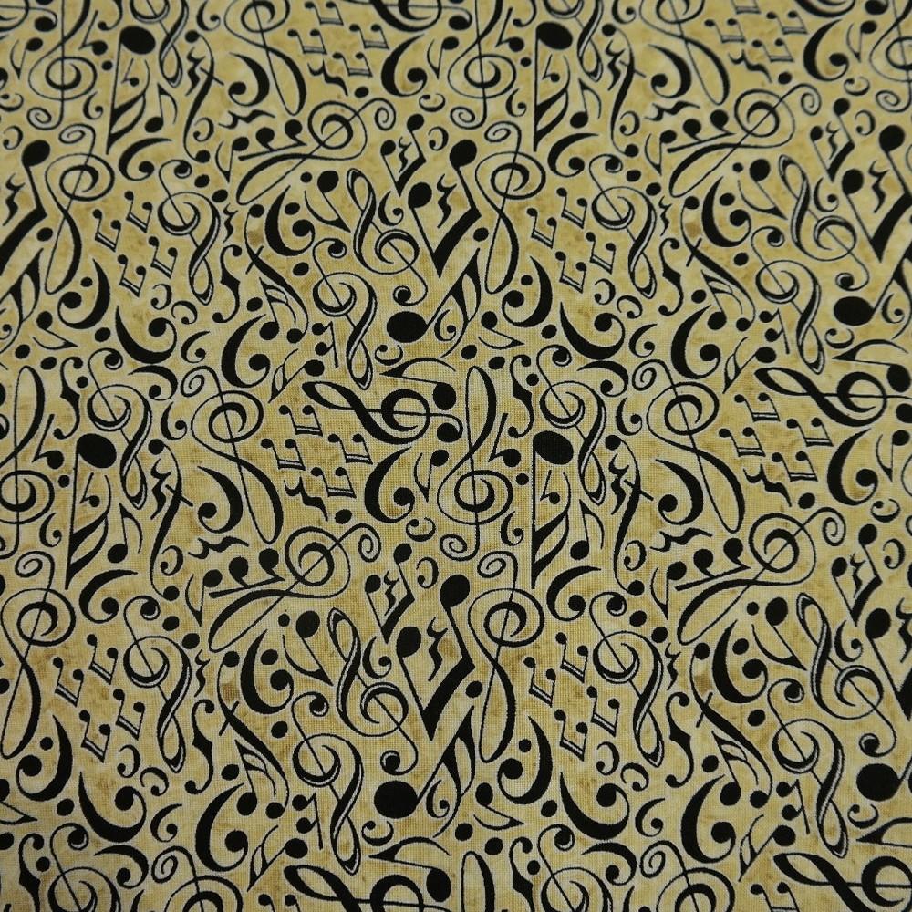 bavlna sv.hnědá noty š.110