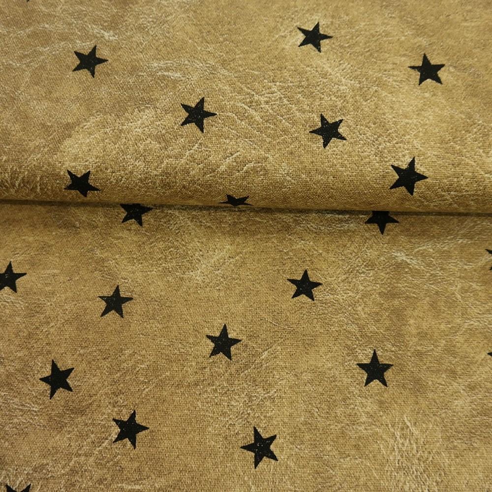 bavlna hnědá hvězdy š.110 silná