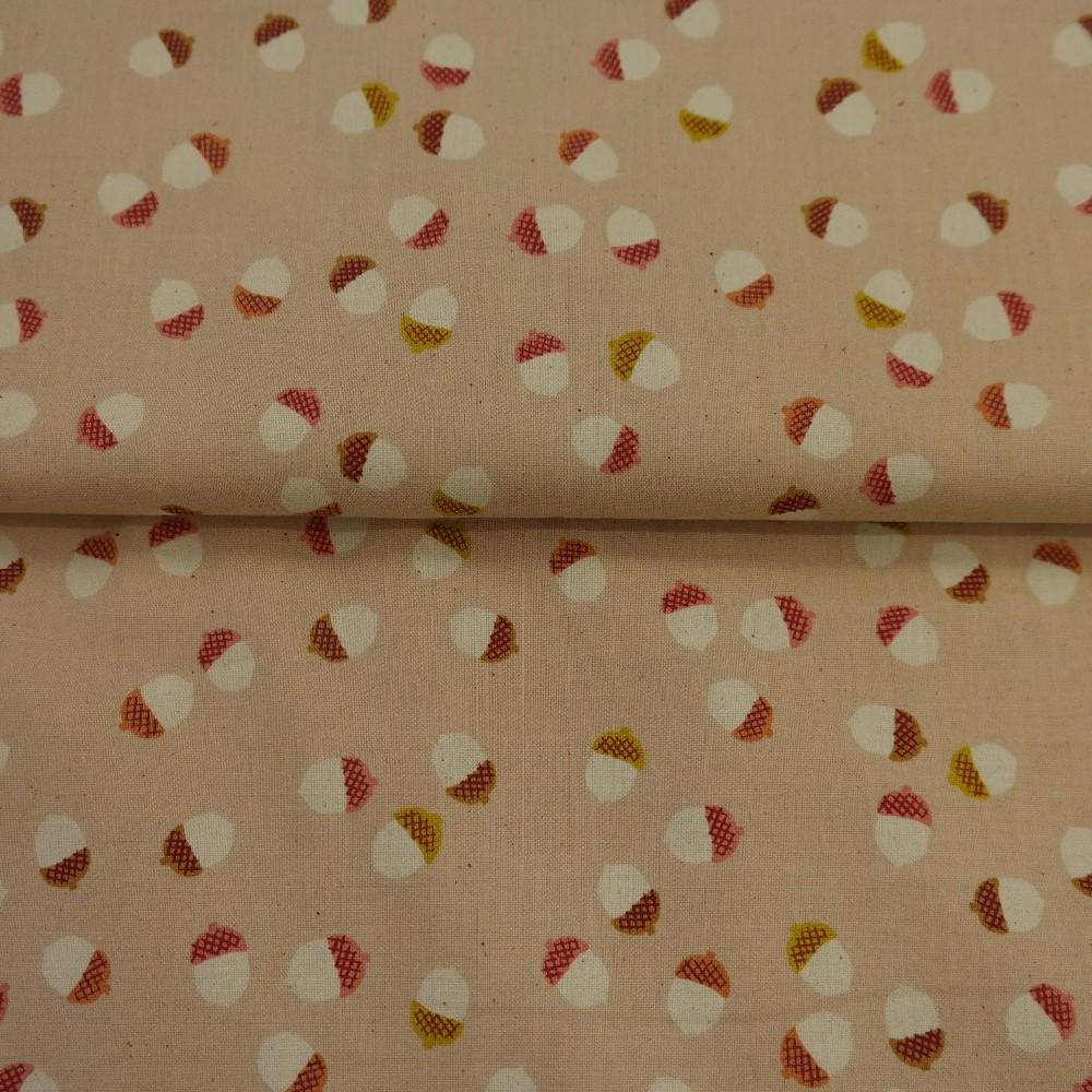 bavlna růžová žaludy š.110