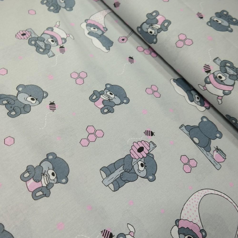 bavlna š/r medvídci plástve