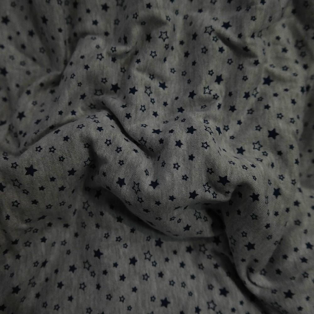 úplet šedý tm.modré hvězdičky BA