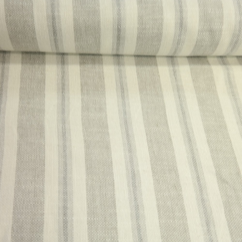 potahovka tkaná smetanovo šedý pruh