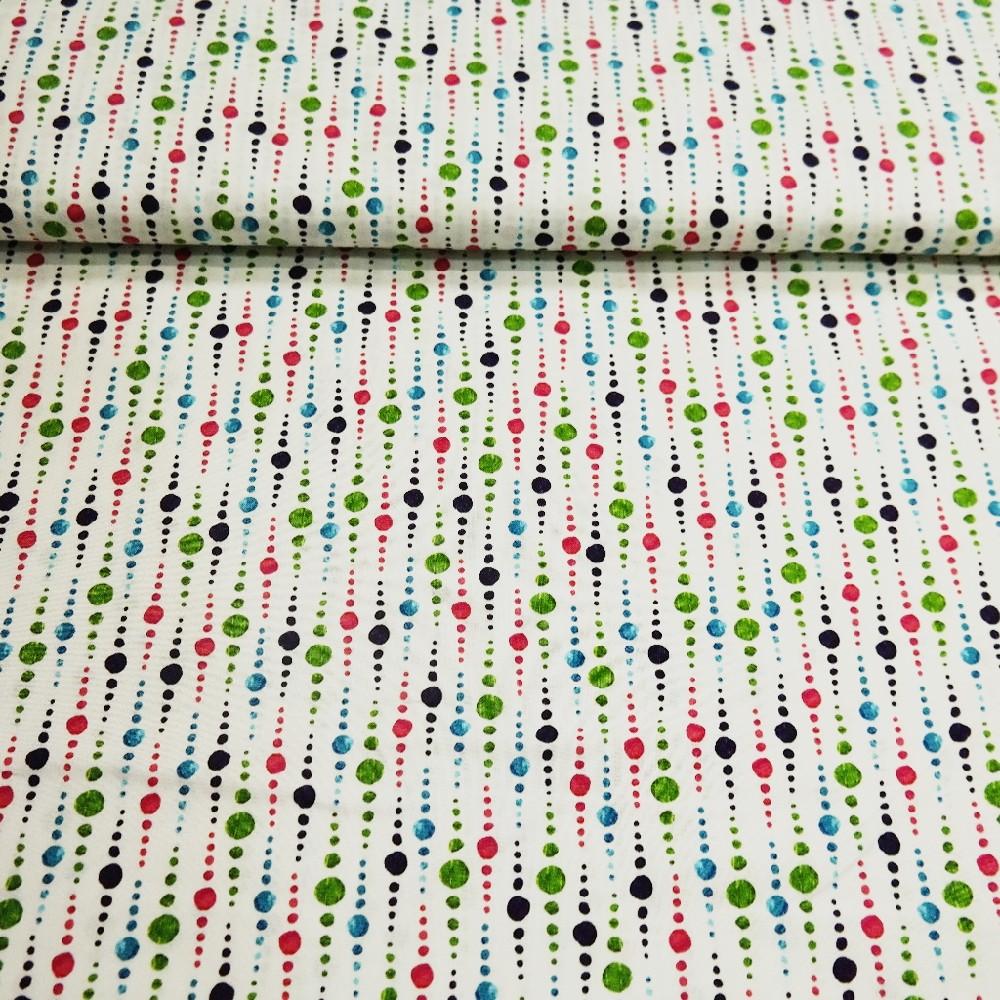 bavlna bílá puntík