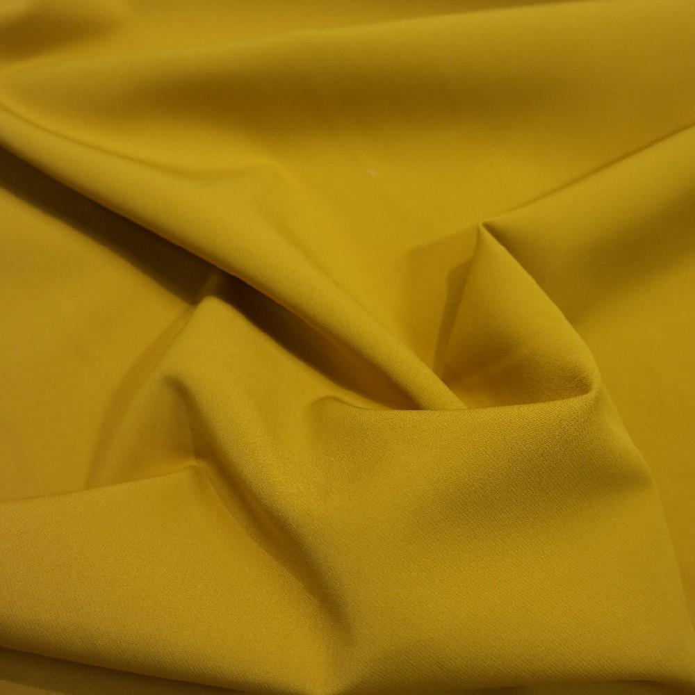 polyester kostýmkový splývavý hořčicový