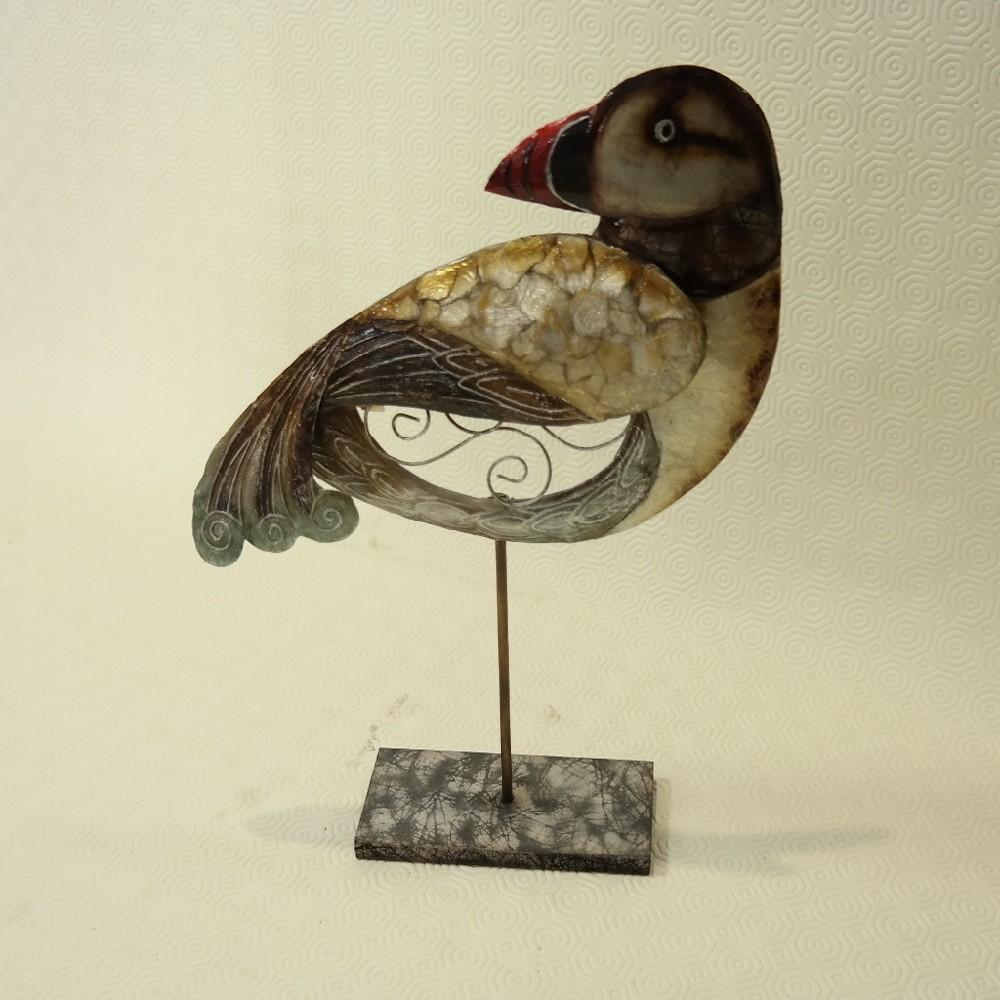 pták kovový 40 cm