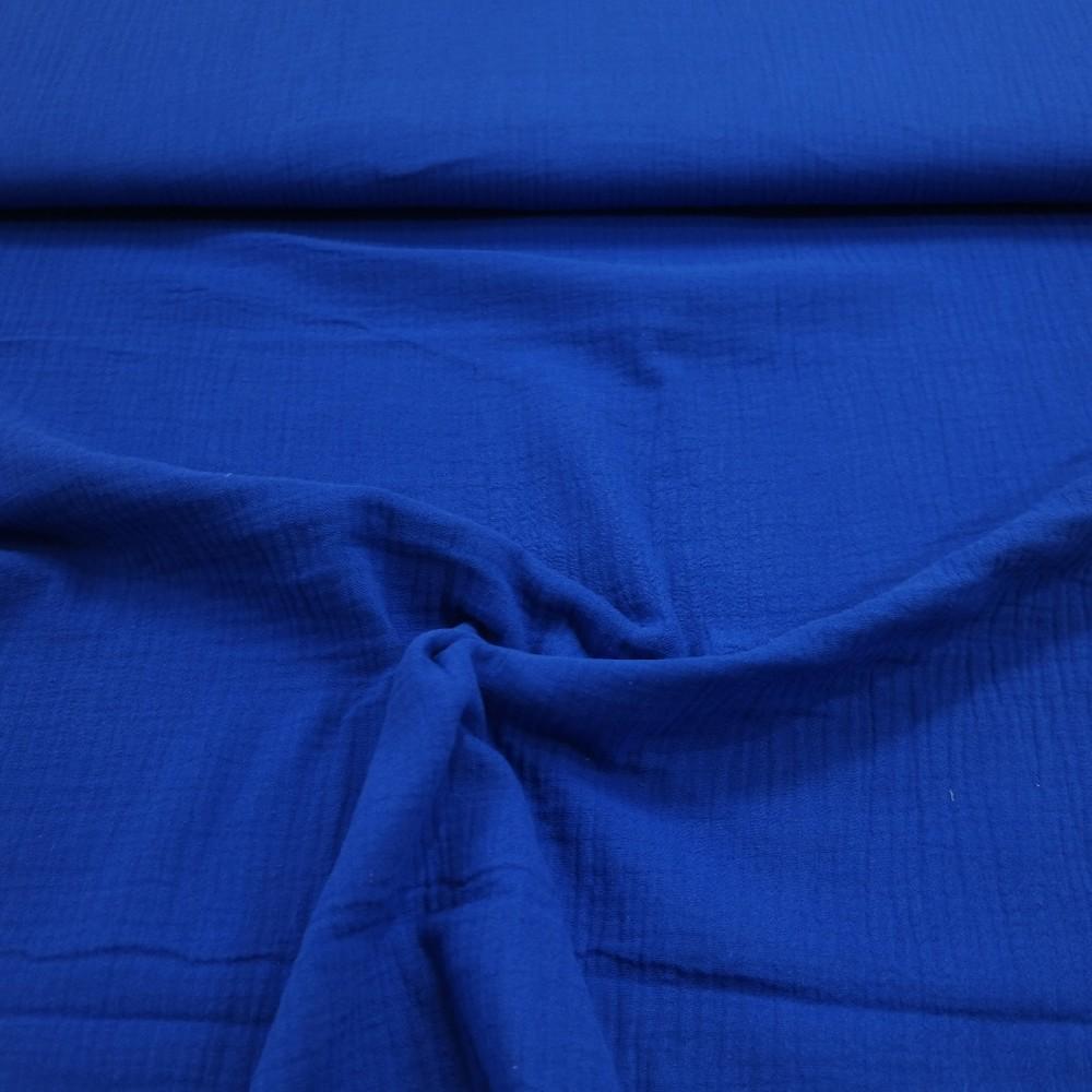 bavlna crash modrá