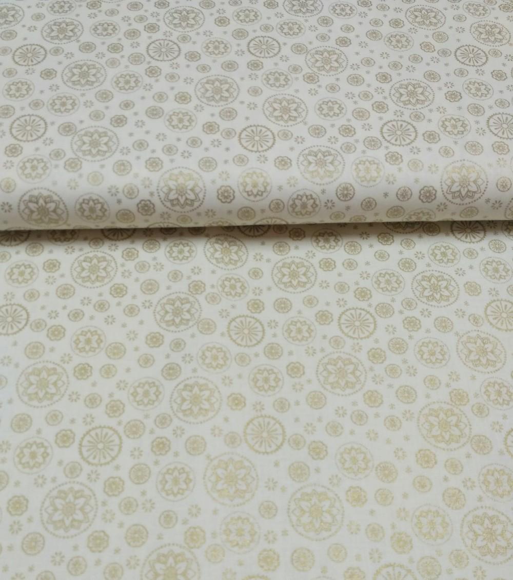 bavlna mandely zlaté