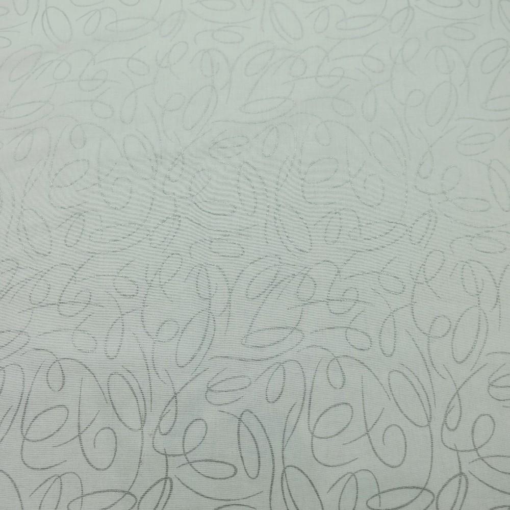 bavlna vánoční bílá stř.vzor