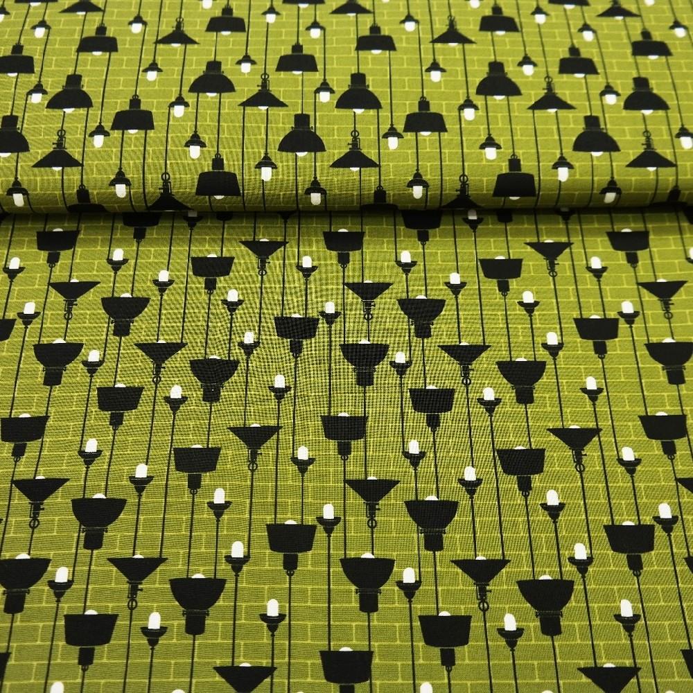 bavlna zelená lampy
