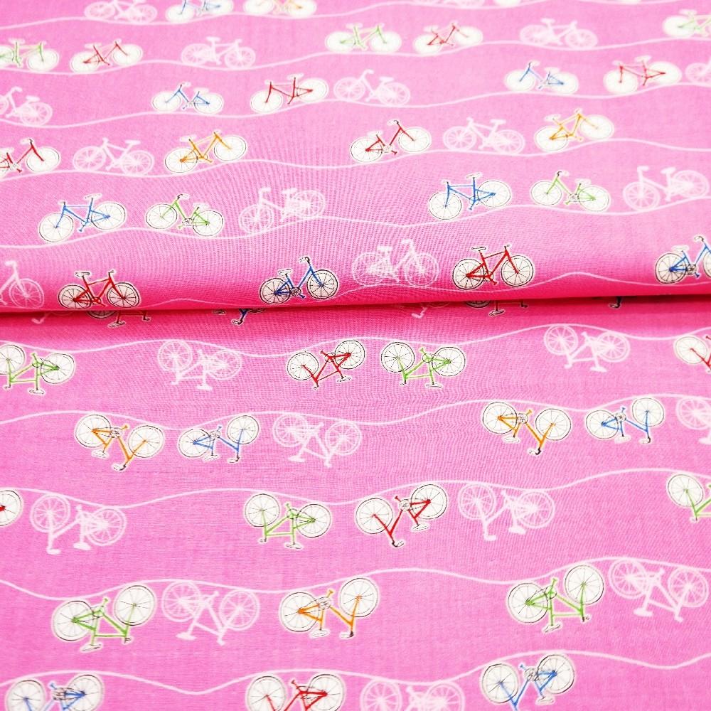bavlna růžová jízdní kolo