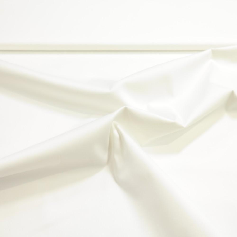 bavlna se saténem bílá