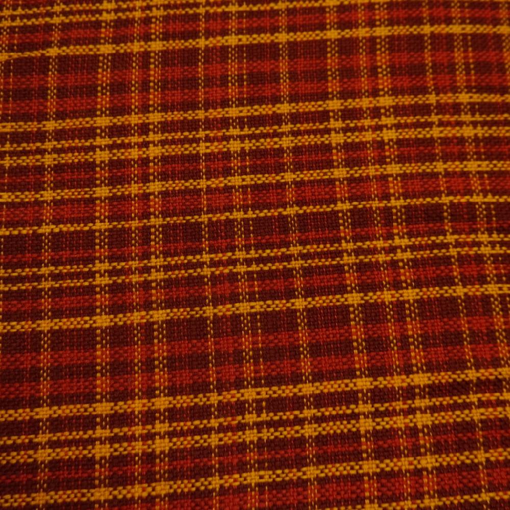 potahovka tkaná červen/oranž kostka