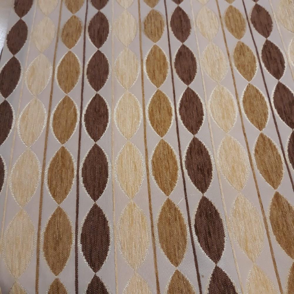 potahovka béžová zlato/hnědý vzor