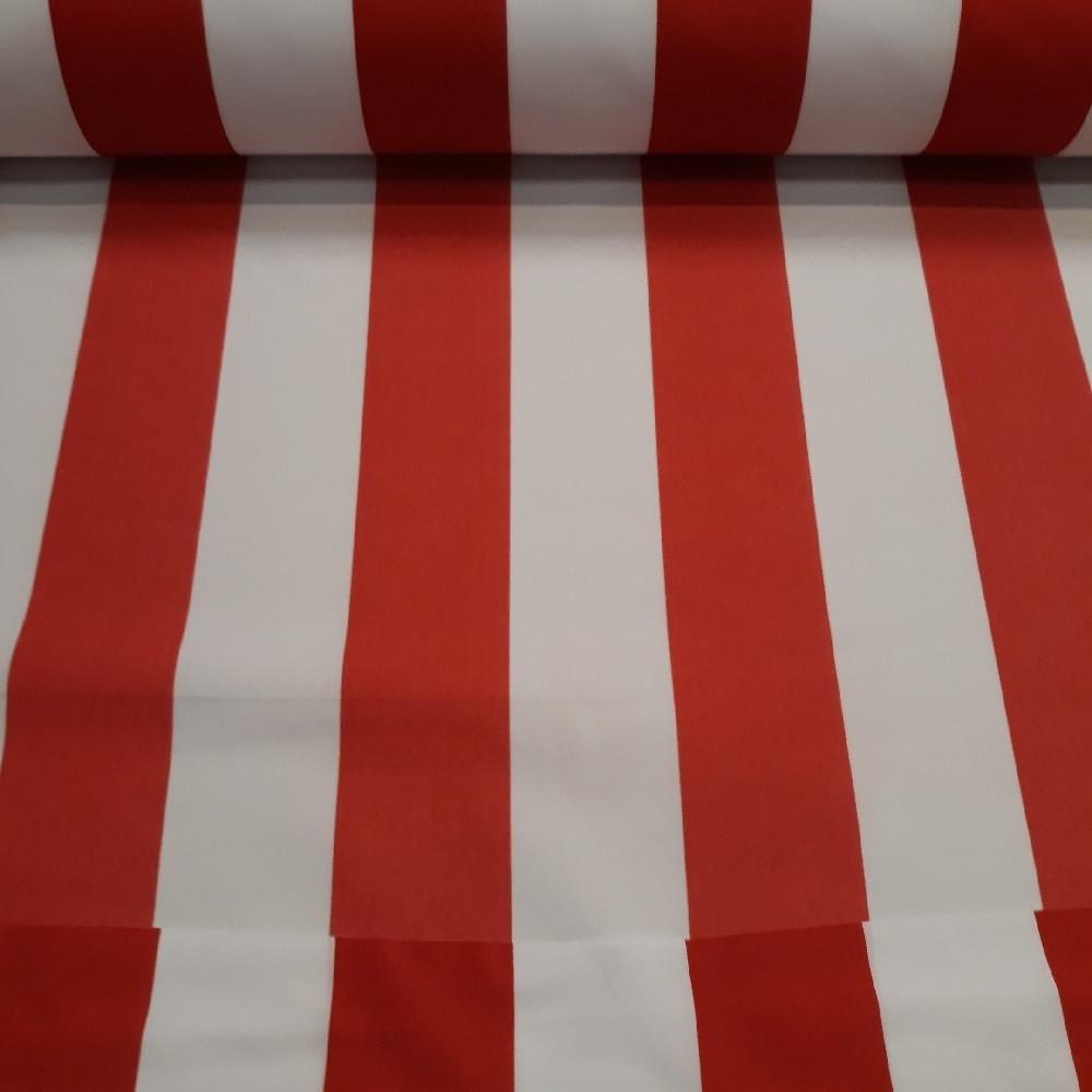 batohovina bílo/červený pruh