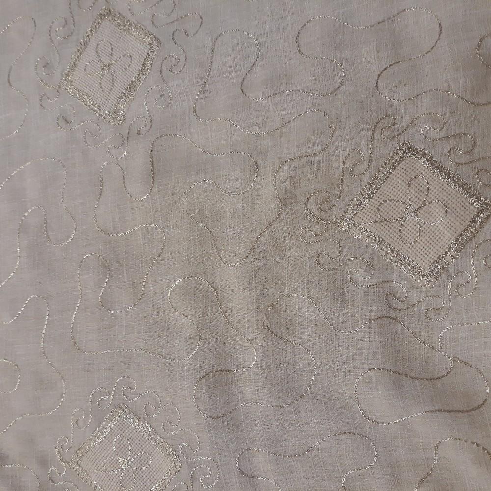 bavlna sv.béžová vyšívaná