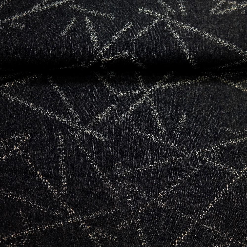 džínovina tm. modrá šráfy