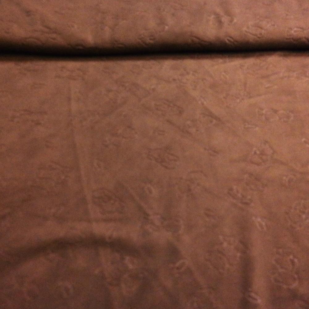 micro plyš sv.hnědý plast .vzor