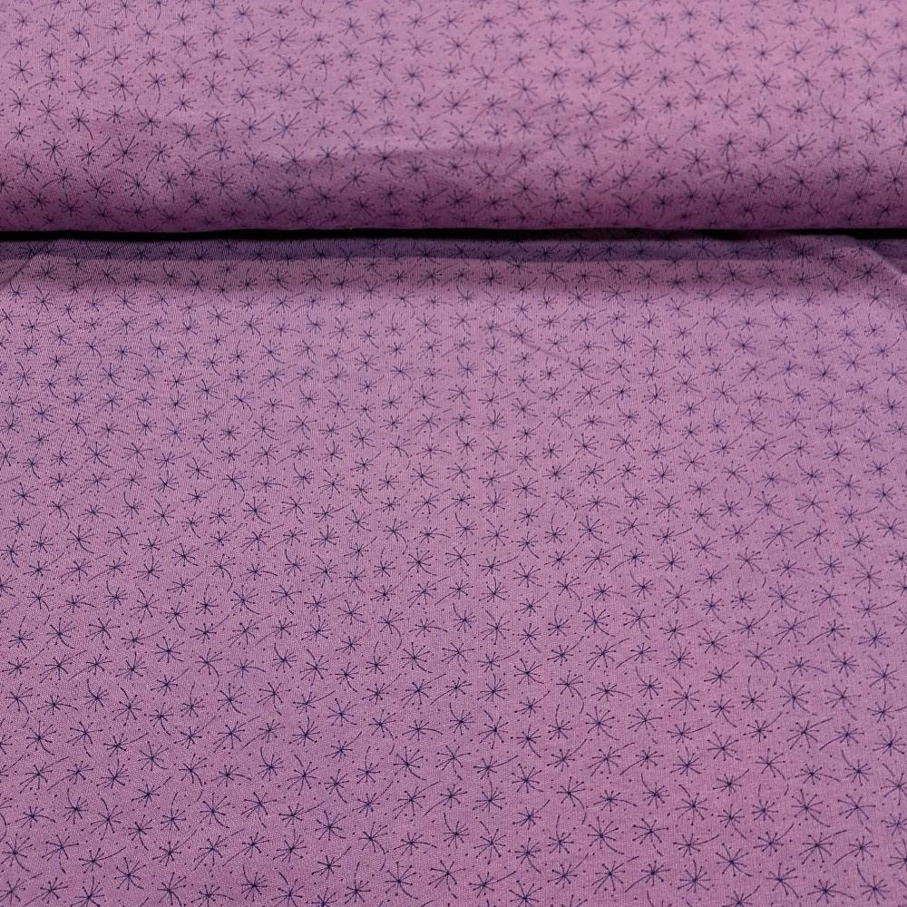 teplákovina fialová vzorek počesaná