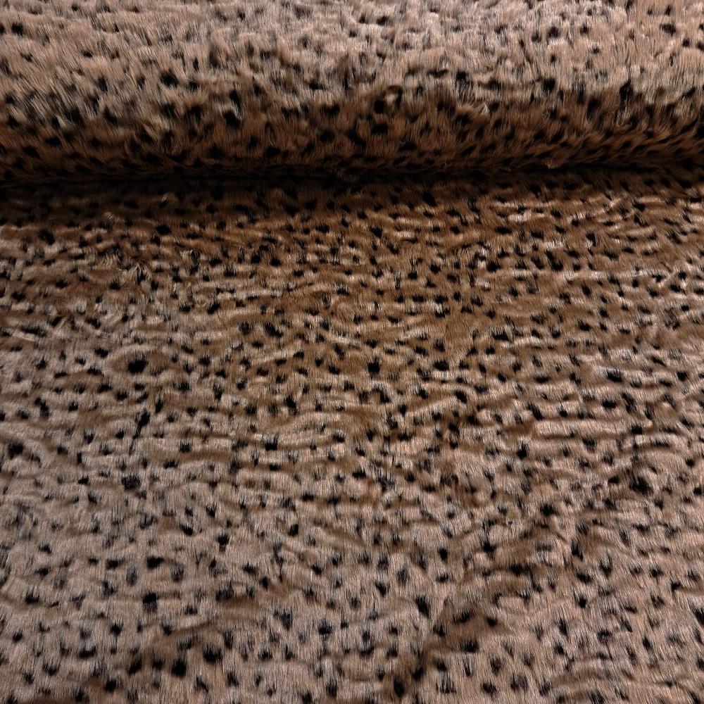 plyš tygrovaný hnědý