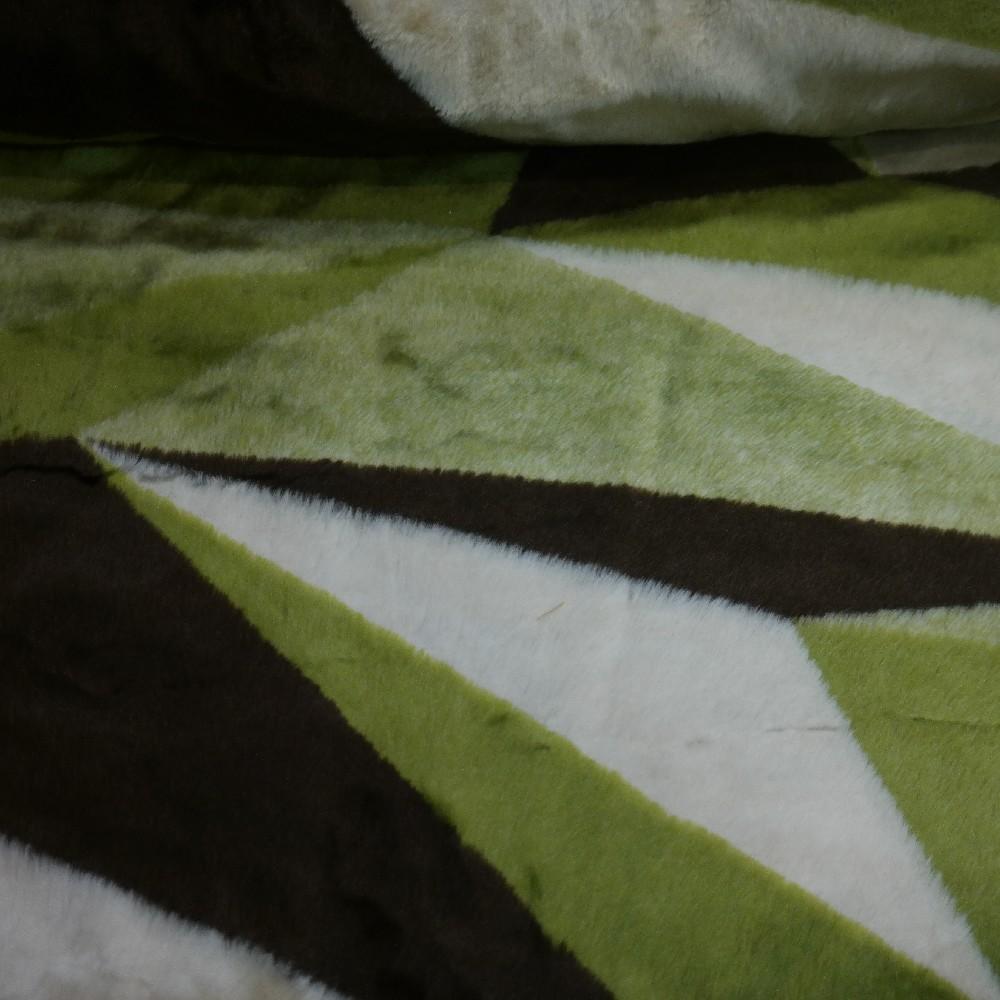 plyš zel-hnědo-béž trojúhel-,š.150