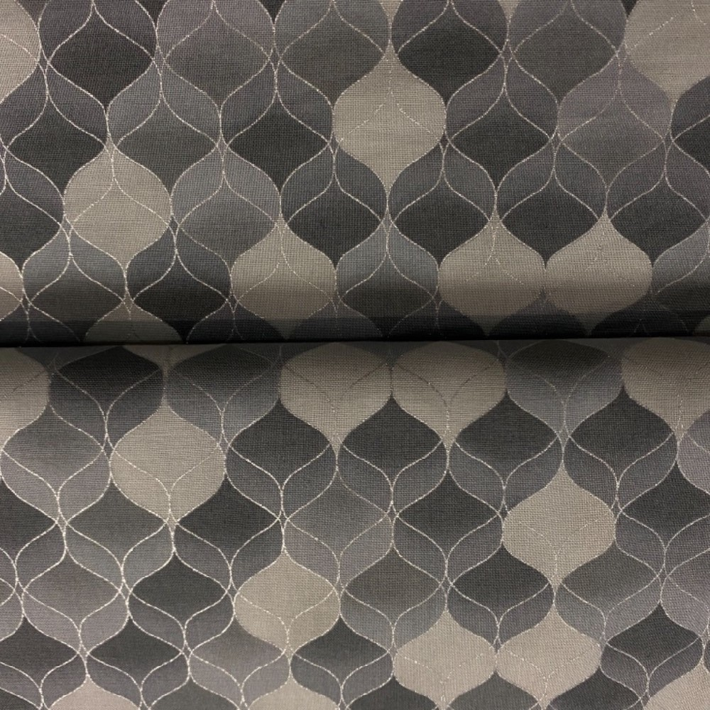 bavlna vánoční šedó-stříbrná mozaika 110 cm