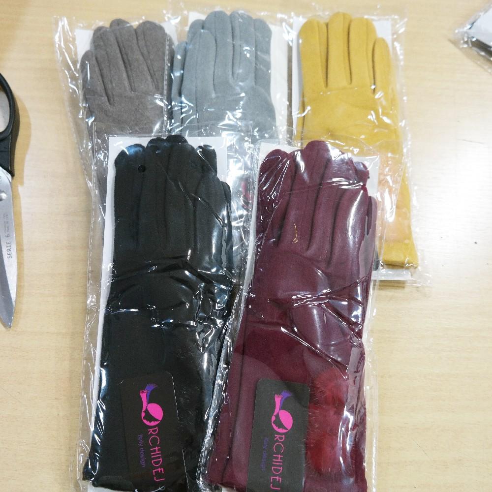 rukavice dámské s bambulkama