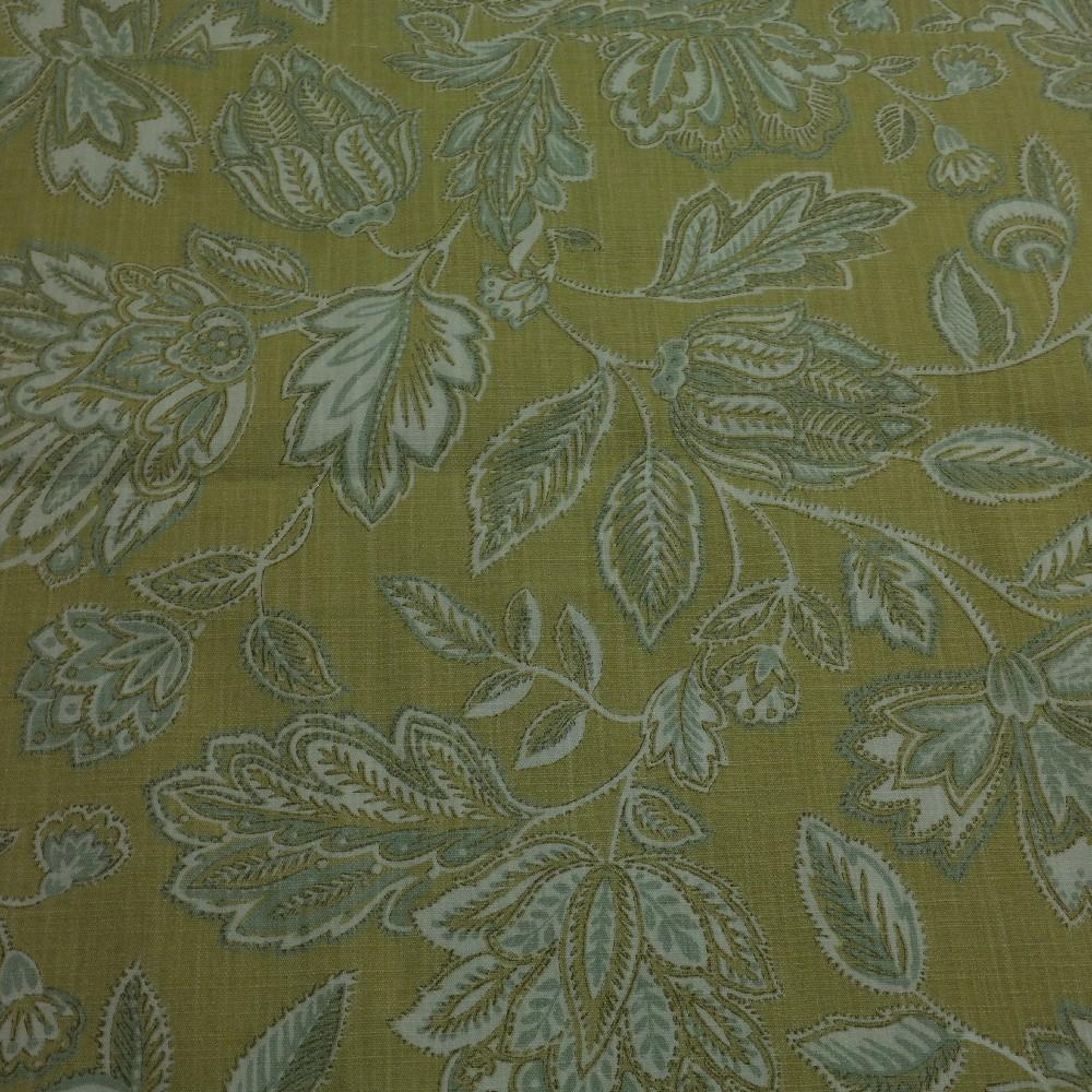 bavlna zelená květy dekorační silná