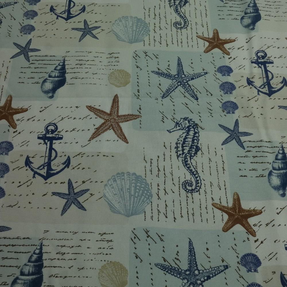 bavlna mořský svět režná