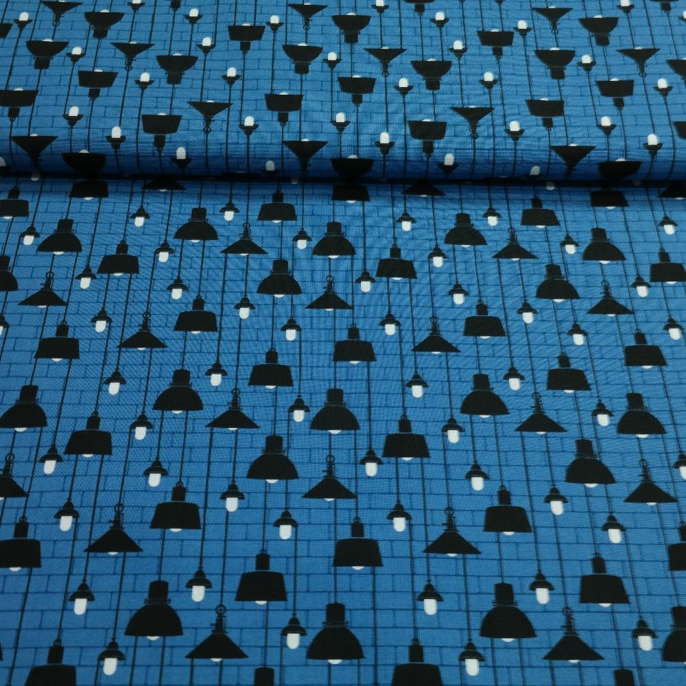 bavlna modrá lampy