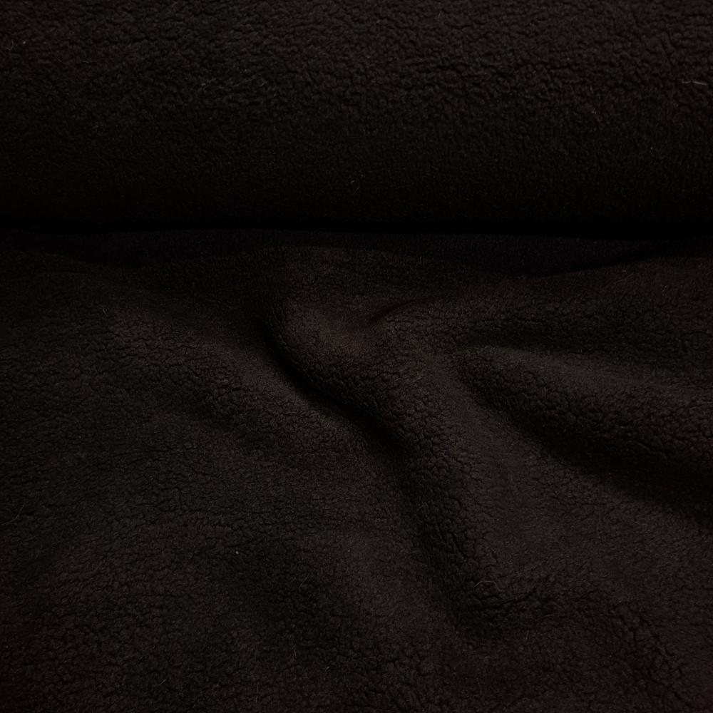 plyš černý oděvní