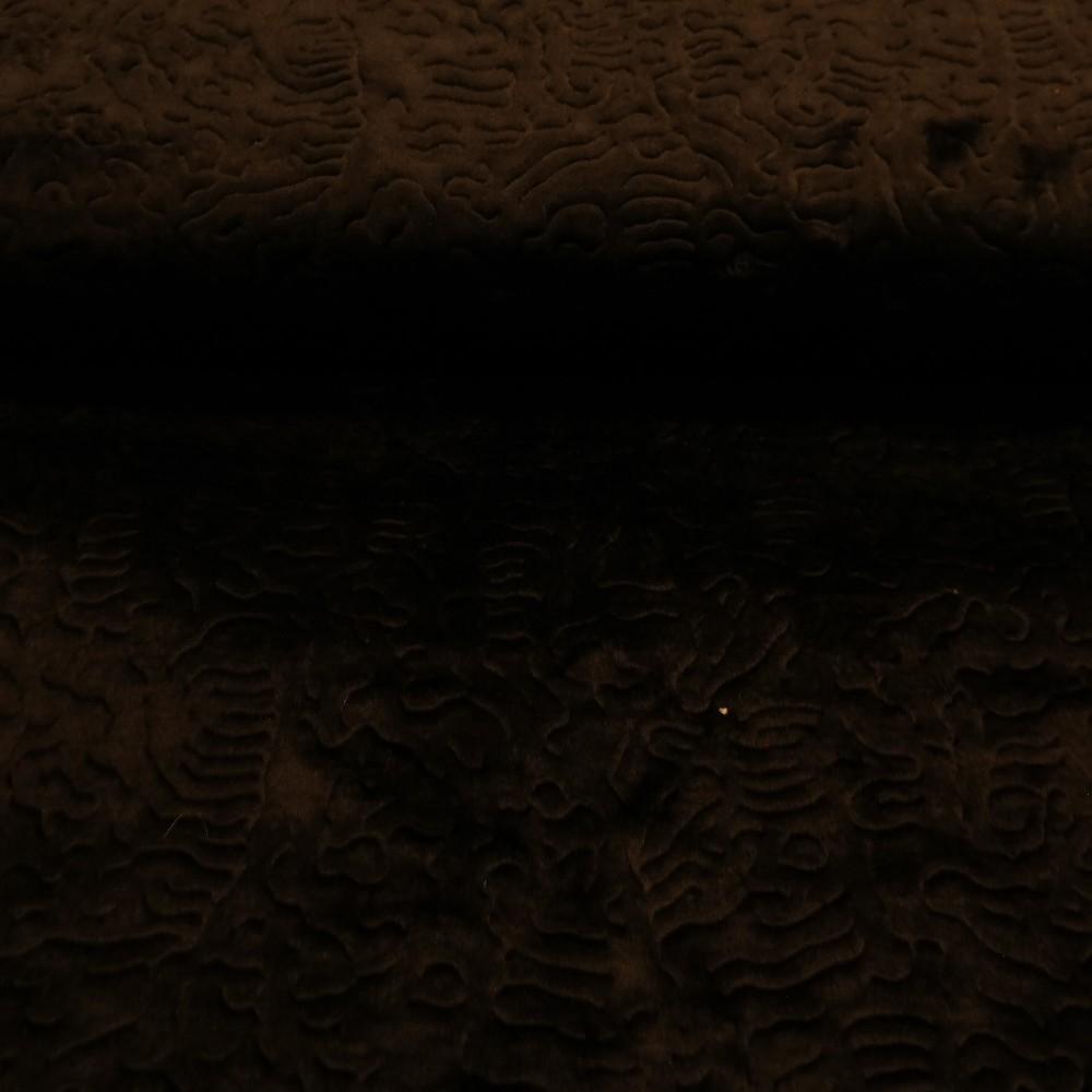 plyš černý vytlač.vzor